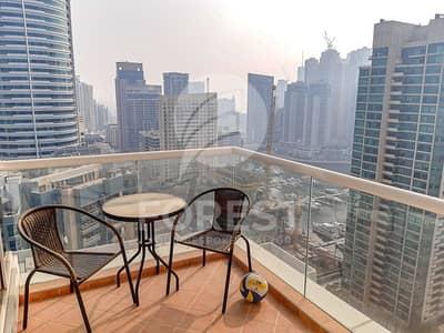 فلیٹ 2 غرفة نوم للايجار في دبي مارينا، دبي - Furnished En suite 2BR | Very close to the Metro