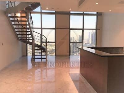 فلیٹ 2 غرفة نوم للايجار في مركز دبي المالي العالمي، دبي - High Floor Duplex Apartment with Zabeel View