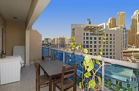 2 Bedroom Flat for Rent in Dubai Marina, Dubai - Upgraded   Marina View   2 Bed + Study   Unfurnished