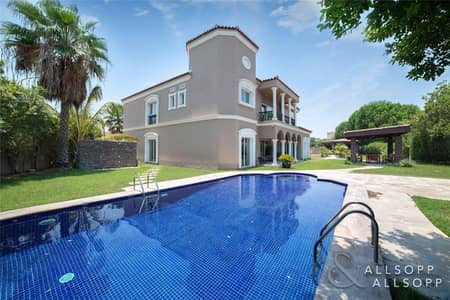 6 Bedroom Villa for Sale in Green Community, Dubai - Massive Plot | Backing Main Park | 6 Beds