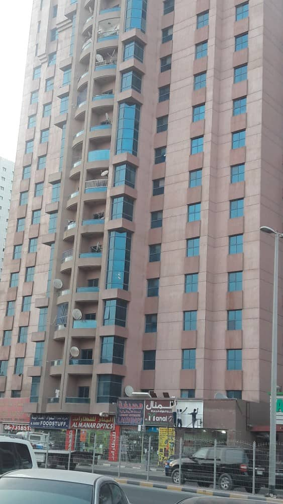 FOR RENT : 1BHK IN AL NUIAMYEA TOWERS AJMAN ACCESS TO EMIRATE ROAD