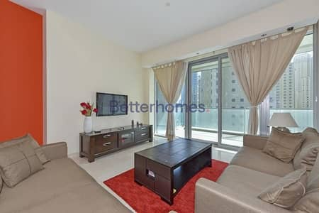 2 Bedroom Apartment for Rent in Dubai Marina, Dubai - Fully Cozy Furnished   2 Bedroom   with Amazing View