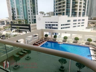 فلیٹ 1 غرفة نوم للايجار في دبي مارينا، دبي - Chiller included * Great Price with pool view