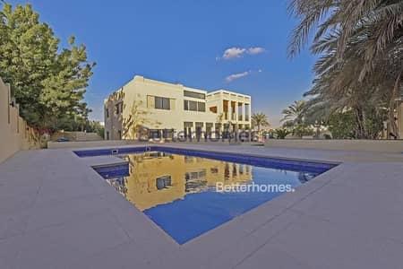 فیلا 5 غرفة نوم للايجار في تلال الإمارات، دبي - Upgraded | Vacant | Private Pool | Full Lake View