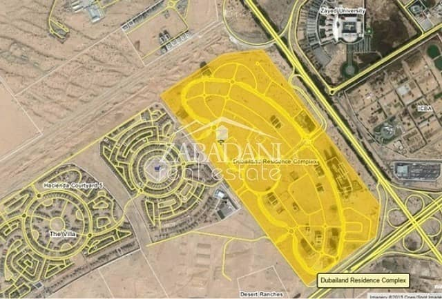 Dubai Residence Complex plot for sale AED 75/SQFT