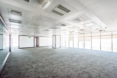 Office for Rent in Al Salam Street, Abu Dhabi - Fitted Office | High Floor | Partitions