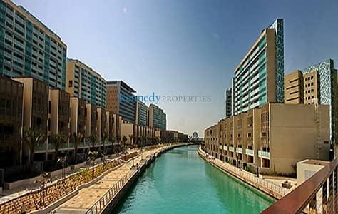 تاون هاوس 4 غرفة نوم للايجار في شاطئ الراحة، أبوظبي - Canal View Townhouse 4 + M  with a Pool