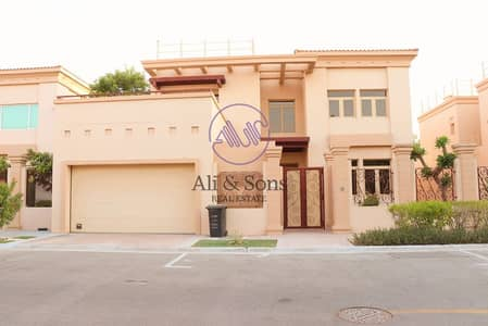 5 Bedroom Villa for Sale in Al Raha Golf Gardens, Abu Dhabi - Negotiable | Direct owner | Pool  Garden  Golf course view