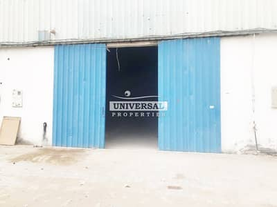 Warehouse for Rent in New Industrial City, Ajman - Main Road 10000 Sqft Warehouse Available in Ajman New Industrial Area 150 kw power Electricity