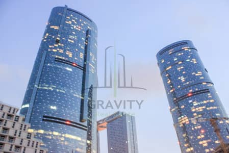 2 Bedroom Apartment for Rent in Al Reem Island, Abu Dhabi - Semi Furnished 2BR with Maidsroom in Sky Tower
