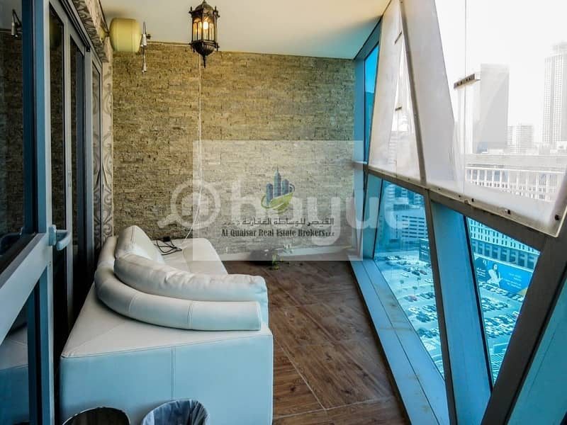 27 FULLY FURNISHED 3 BEDROOM APARTMENT with MAID ROOM   STORE AND BALCONY