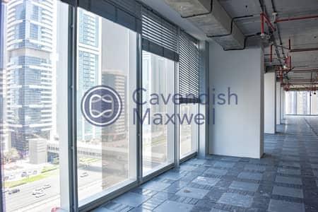 مکتب  للايجار في شارع الشيخ زايد، دبي - Rolex Tower I Shell & Core I Low Floor