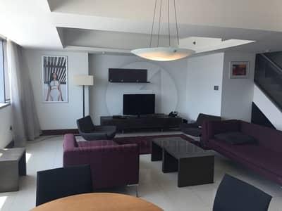 فلیٹ 2 غرفة نوم للبيع في مركز دبي التجاري العالمي، دبي - Burj Khalifa and Emirates Towers view Duplex