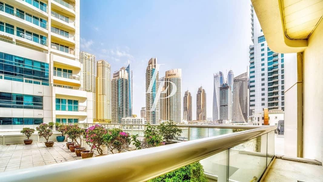 2 Huge 2-BR | Full Marina View | 2 Parking