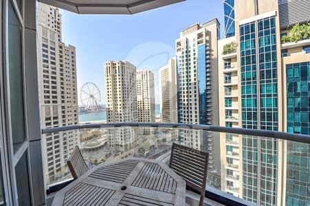 2 Bedroom Apartment for Rent in Dubai Marina, Dubai - Amazing Marina & Sea views   Furnished   Mid floor