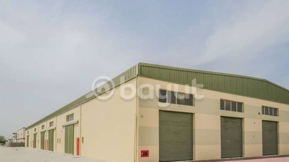 New warehouses for rent (2100 feet) in Al Jurf on the main street, next to the Chinese market, at an incredible price of only 45,000 dirhams