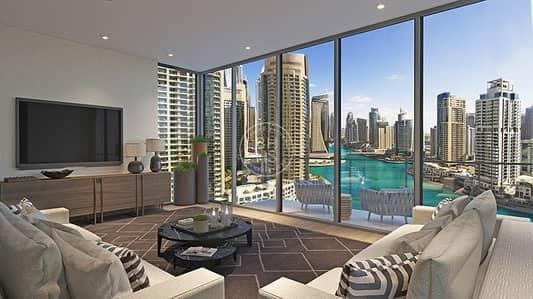 شقة 1 غرفة نوم للبيع في دبي مارينا، دبي - 1BR Apt | Marina View | Handover Oct 19 | Low Floor!