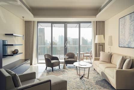 2 Bedroom Apartment for Rent in Downtown Dubai, Dubai - High-Floor Burj & Fountain Views Maid's Room