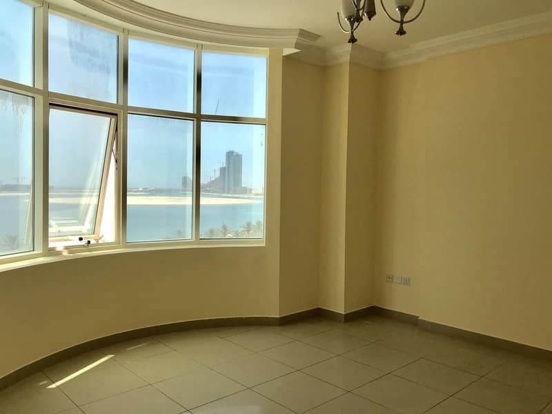 11 Sea view 3Bhk with Maid room. Just 52k free parking + one month mamzer