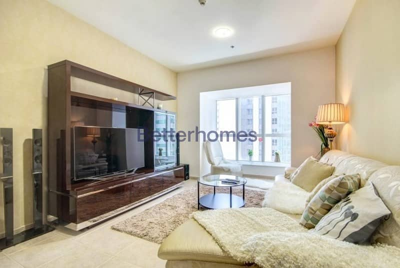 2 Nicely Furnished  High Floor   City View   Elite Residence