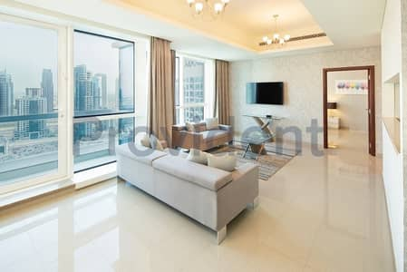 2 Bedroom Hotel Apartment for Rent in Dubai Marina, Dubai - 2BR|Sea view|Fully Furnished and Serviced