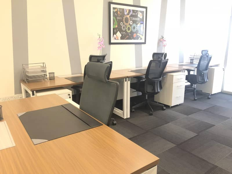 Fully Furnished Office at theOffice Business Center | Bayut com