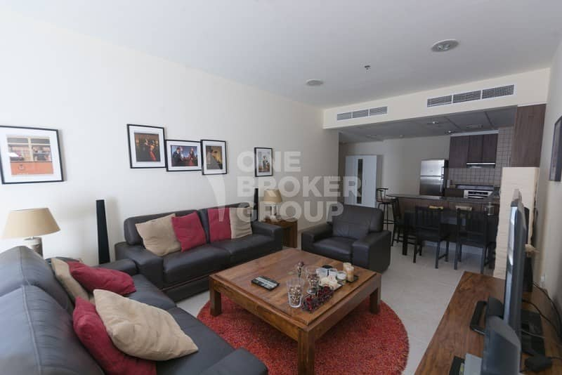 Furnished 1 BR Apt w/ Partial Sea View