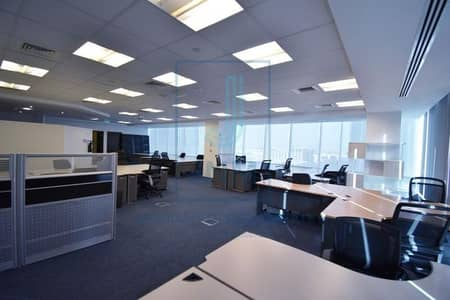 Office for Rent in Jumeirah Lake Towers (JLT), Dubai - Furnished and partitioned office in Reef