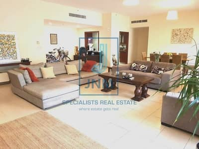 4 Bedroom Flat for Sale in Jumeirah Beach Residence (JBR), Dubai - High floor/ Partial Sea View / 4BR+Maid for sale