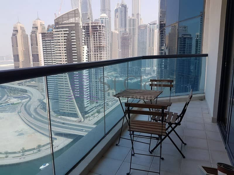 2 Furnished 2 Beds | Full Marina View | High Floor