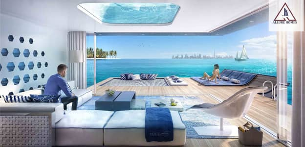 فیلا 2 غرفة نوم للبيع في جزر العالم، دبي - 8% ROI UP TO 10 Years | Floating Villas with Underwater Rooms