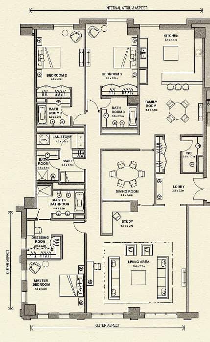10 Largest Three Bedroom + Maids | Upgraded