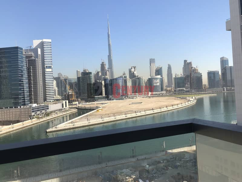 Brand New! 2 BR + Maid's Room Canal Burj View