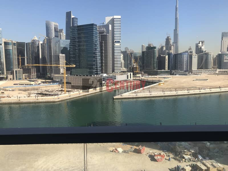 2 Brand New! 2 BR + Maid's Room Canal Burj View