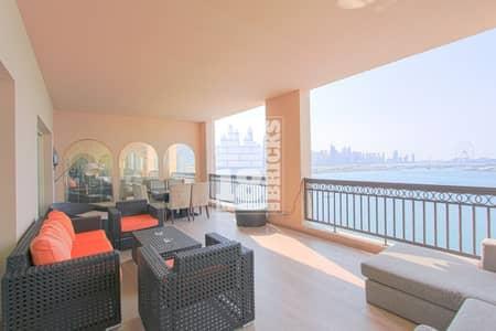 فلیٹ 4 غرفة نوم للبيع في نخلة جميرا، دبي - Sea View | Fully Upgraded | Maid's Room