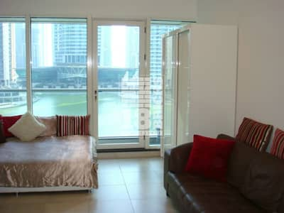 استوديو  للايجار في أبراج بحيرات جميرا، دبي - Furnished | Water View | Monthly Payment