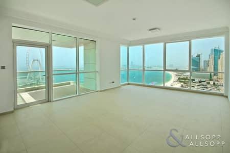 فلیٹ 2 غرفة نوم للبيع في جي بي ار، دبي - Vacant 2 Bed | Full Dubai Eye and JBR View