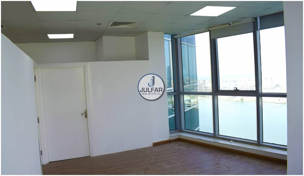 12 Partitioned Sea View Office For Rent In Julphar Tower