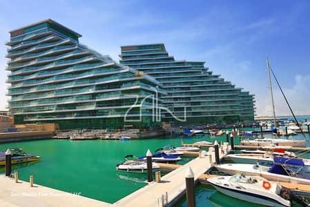 بنتهاوس 4 غرفة نوم للبيع في شاطئ الراحة، أبوظبي - Upgraded Sea View Penthouse Corner with Balcony