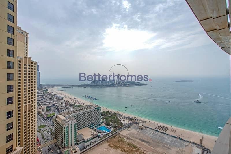 Full sea & Dubai Eye view I Right on beach