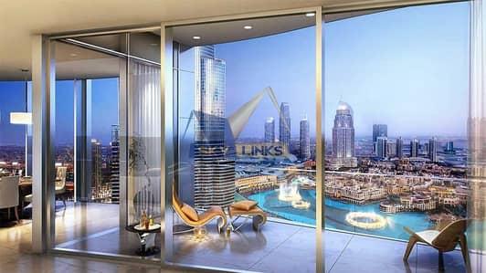 شقة 4 غرفة نوم للبيع في وسط مدينة دبي، دبي - Luxury Penthouse with Fountain View in IL Primo