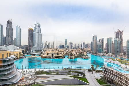 2 Bedroom Apartment for Rent in Downtown Dubai, Dubai - Full Fountain View! Largest Corner Type