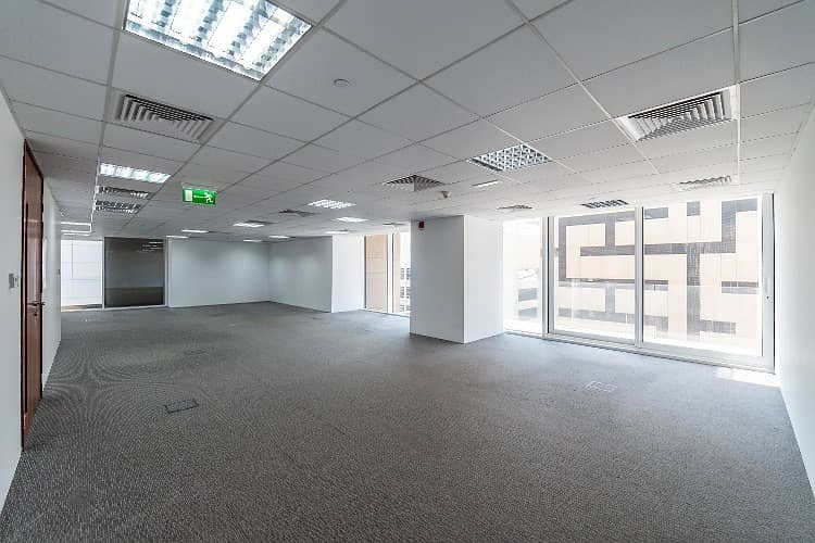 No Commission, premium fitted office for rent on Sheikh Zayed Road