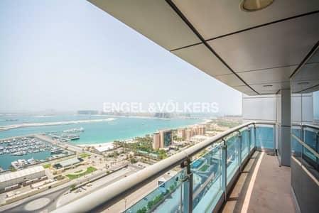 فلیٹ 2 غرفة نوم للايجار في دبي مارينا، دبي - Full Sea View   Unfurnished  With Balcony