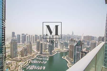 فلیٹ 3 غرفة نوم للايجار في دبي مارينا، دبي - Largest Layout | Furnished 3 BR + Maids
