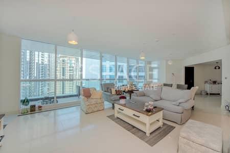 شقة 3 غرفة نوم للبيع في دبي مارينا، دبي - Partial Marina and Sea View | High Floor