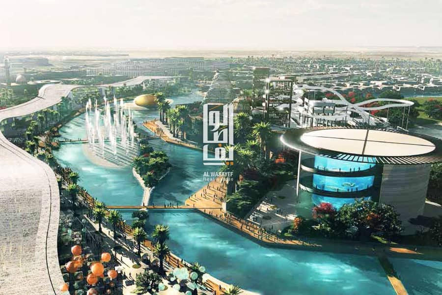 Fully furnished luxury apartments with crystal lagoon view