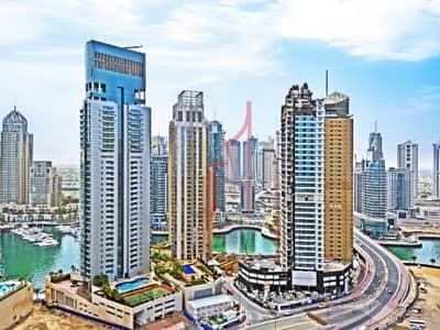 استوديو  للايجار في دبي مارينا، دبي - Studio With Dubai Marina View | 60K in 1 Cheque