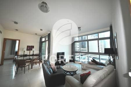 2 Bedroom Apartment for Rent in Dubai Marina, Dubai - Amazing Sea View | Fully Furnished | Mid floor