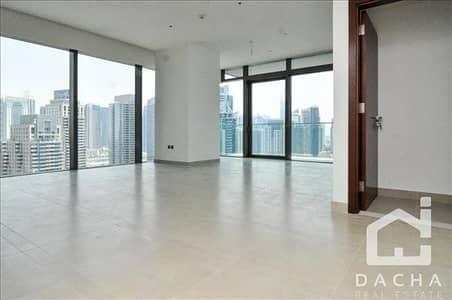 شقة 2 غرفة نوم للايجار في دبي مارينا، دبي - Front corner unit High floor marina full view Unfurnished